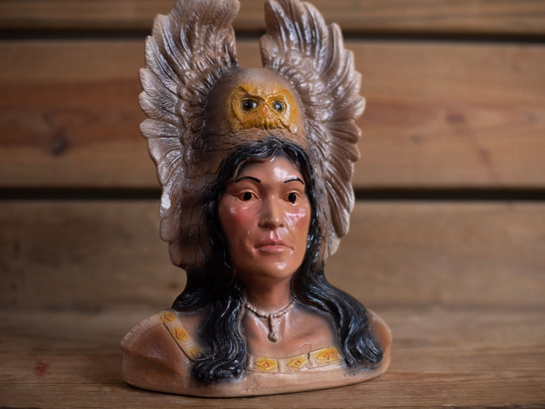 Image of Vintage Native American Bust