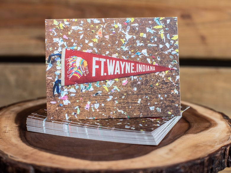 Image of Fort Wayne Pennant Postcard