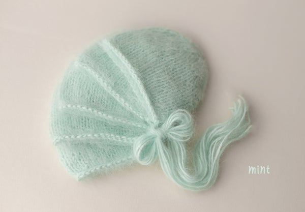 Image of Angora Bonnet - mint
