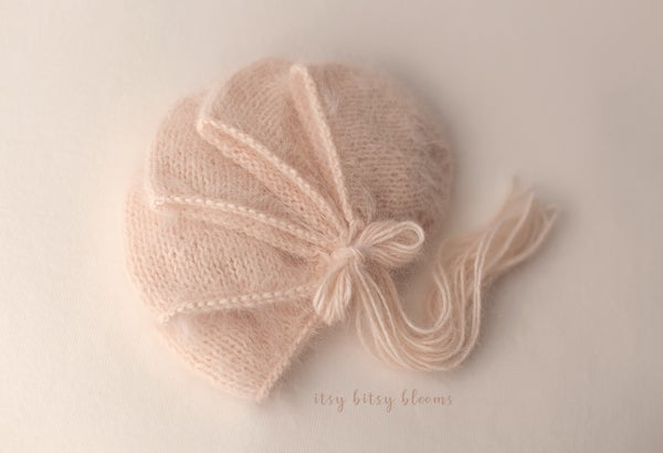 Image of Angora Bonnet - Pale Apricot