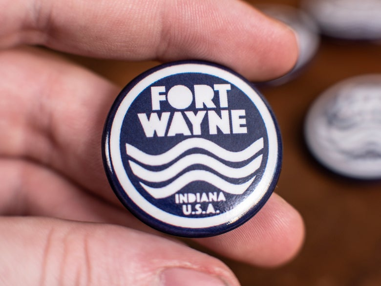 Image of Fort Wayne River Button (Set of 2)