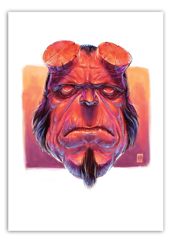 Image of Hellboy - A3 Poster Print