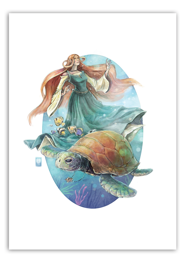 Image of Sea Turtle - A3 Poster Print