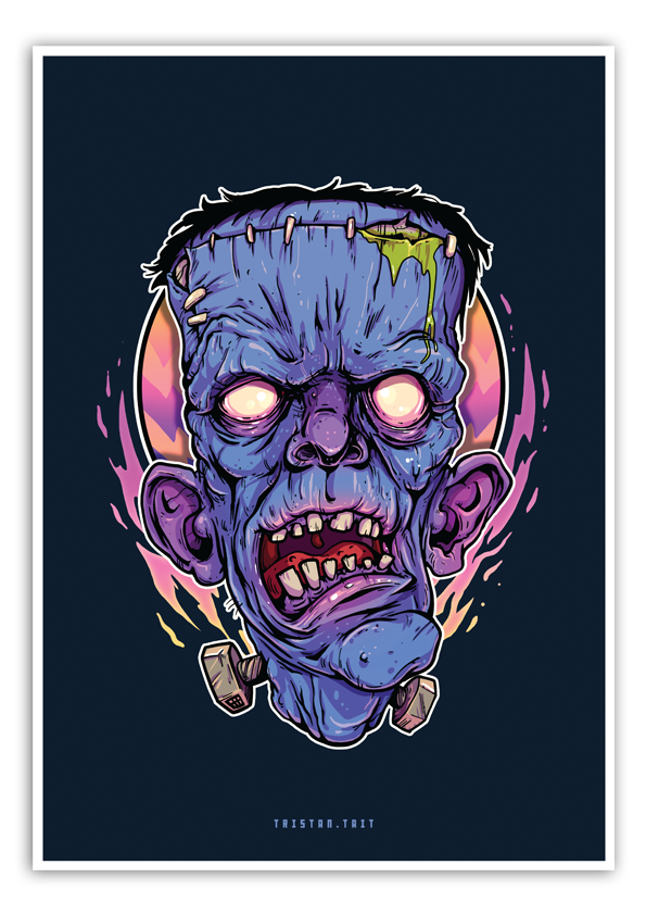 Image of Old Man Frank - A3 Poster Print