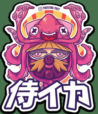 Image of Samurai Squid - Sticker