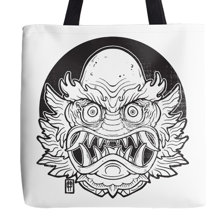 Image of Oni From the Black Lagoon (White) - Bag
