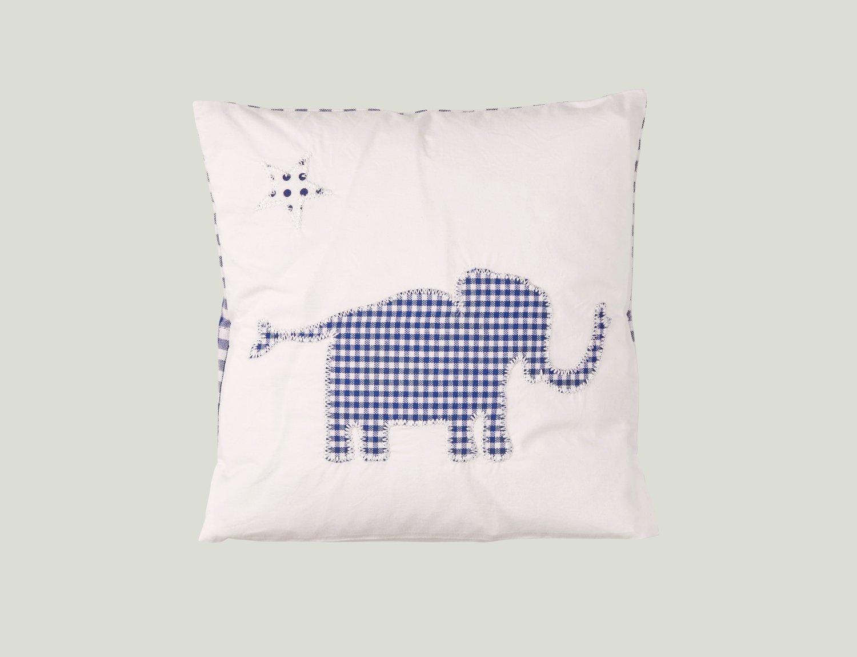 Image of Kissen mit Elefant blau ART.1351140