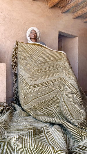 Image of Moroccan Kilim-Rug - Zigzag Pattern Flatweave