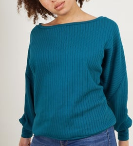 Image of Rippstrick Pullover petrol