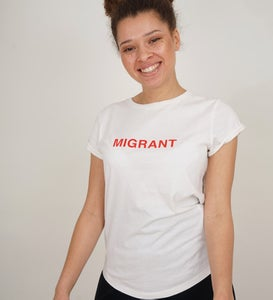 Image of MIGRANT Shirt weiss