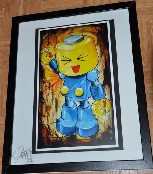 Image of JEREMY WORST Servbot Marvel Vs Capcom Anime momocon dragoncon fanime art painting fan