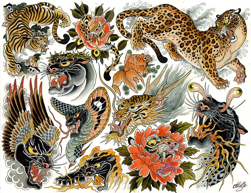 Image of Tigers - Flash sheet