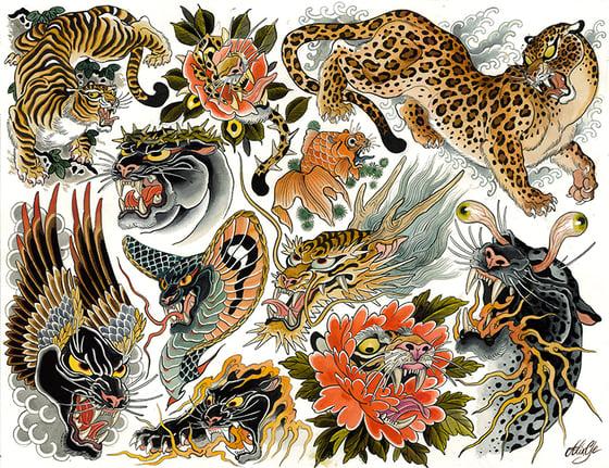 Image of Tigers - Flash sheet