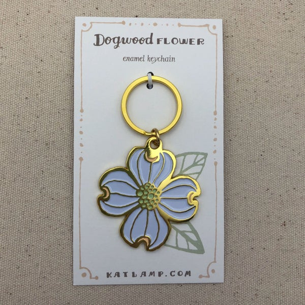 Image of Dogwood Flower Keychain