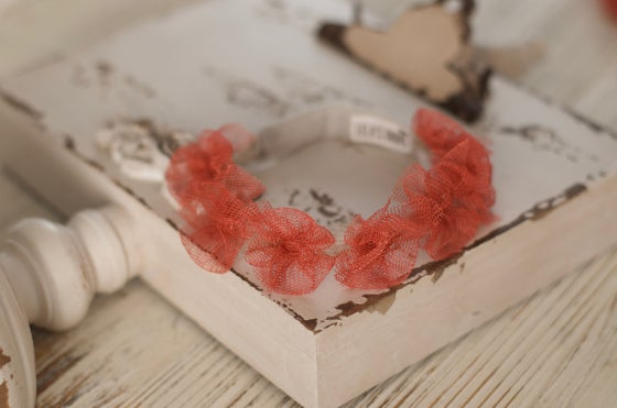 Image of Tulle bows headband ( rust)