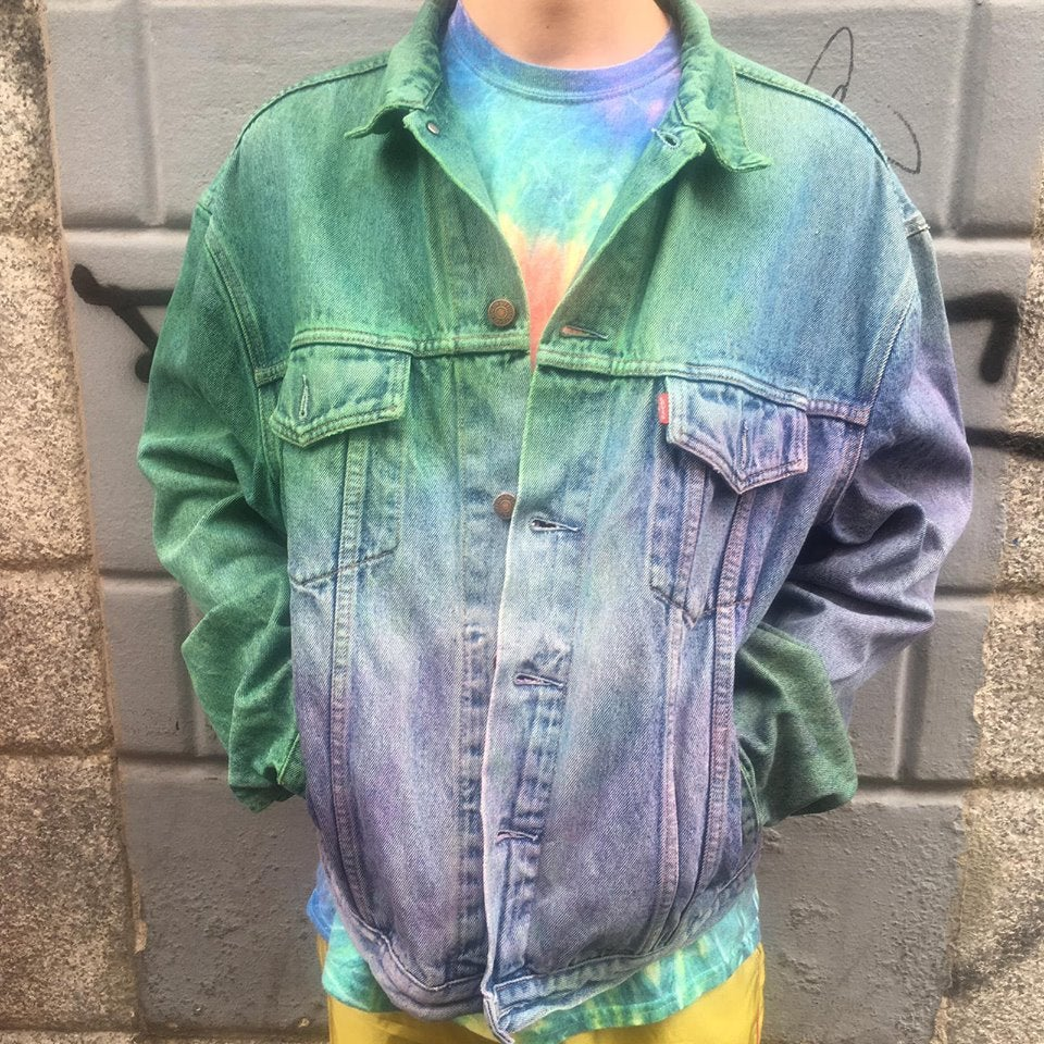 Image of TIE DYE DENIM JACKET #1
