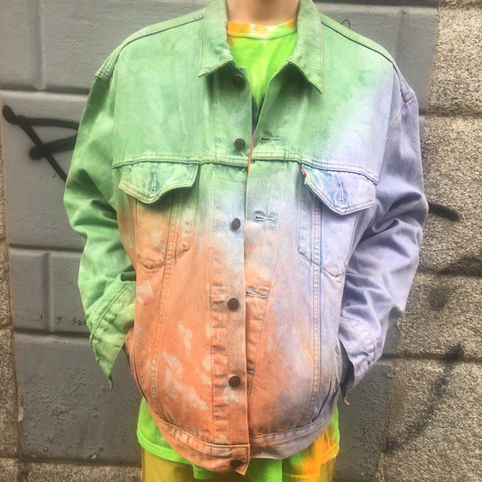 Image of TIE DYE DENIM JACKET #2