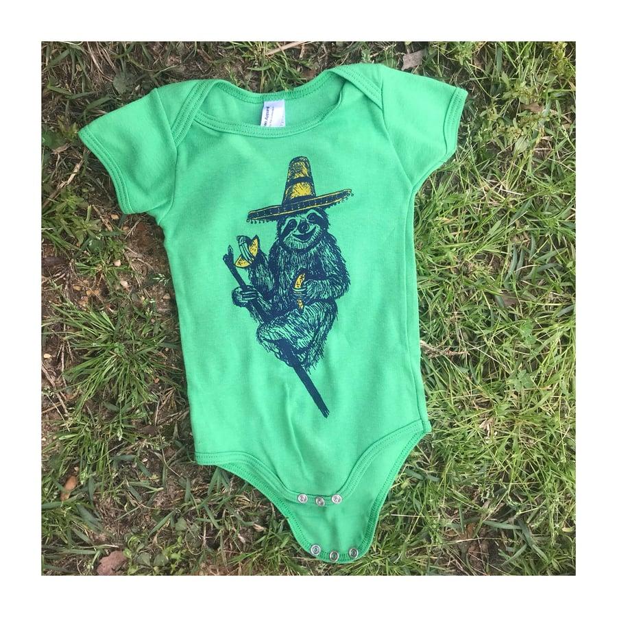 Image of Sloth Taco Baby Onesies