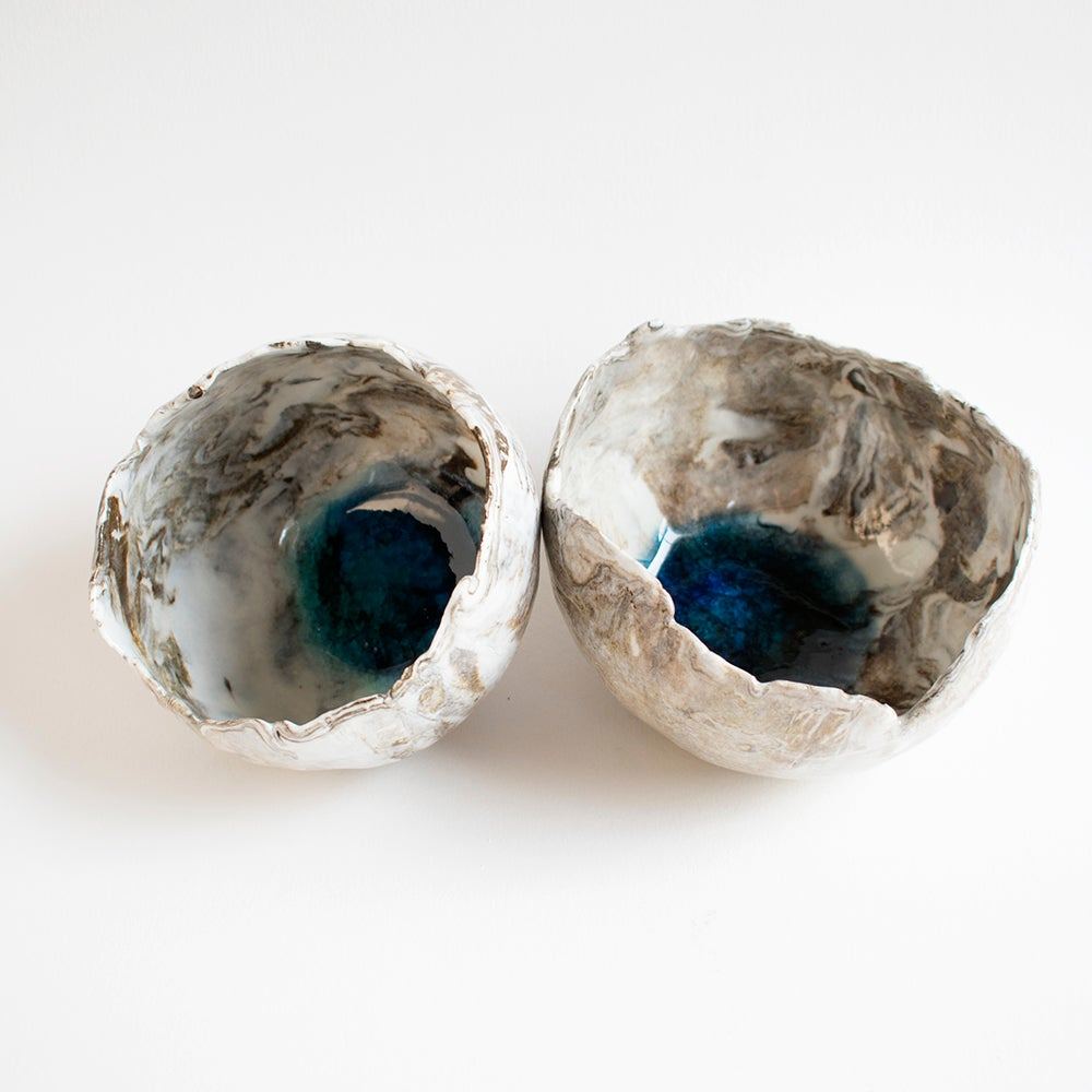 Image of Pair of Earthscape bowls (1 left)
