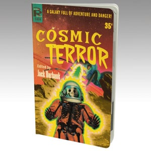"""Image of 5""""x8"""" Cosmic Terror Pulp Cover Notebook"""