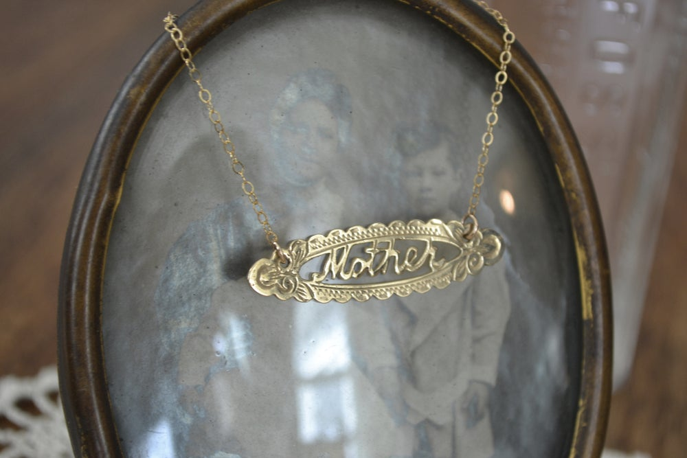 "Image of ""Mother"" Nameplate Necklace"