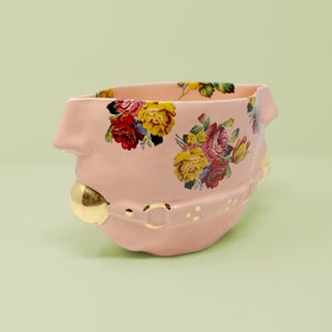 Image of Floral Gag Bowl with 22kt Gold