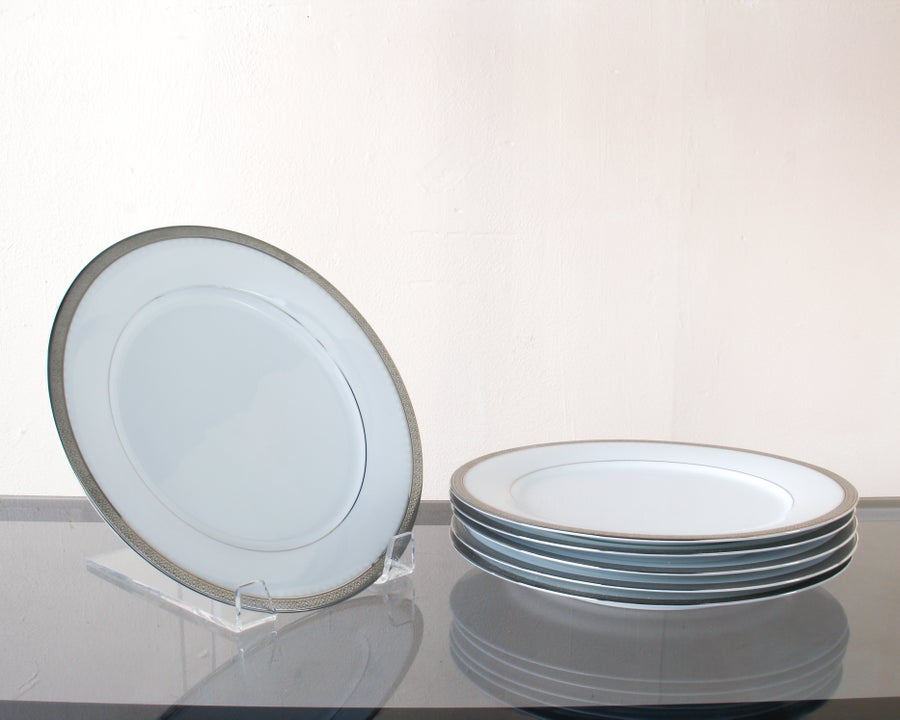 Image of Set of 6 Porcelain Noritake Dinner Plates
