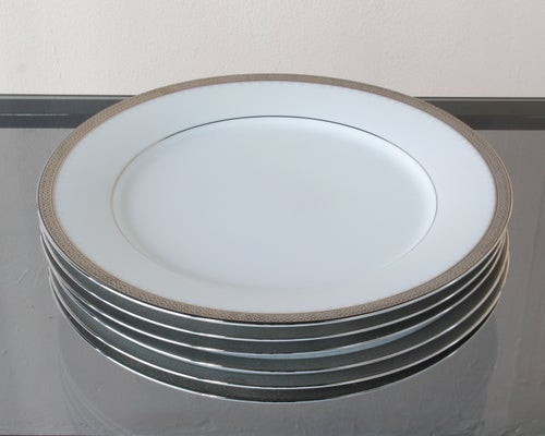 Image of Set (7) Porcelain Noritake Salad Plates
