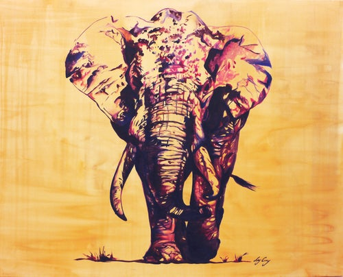 Image of Nelly | Original Elephant Oil Painting