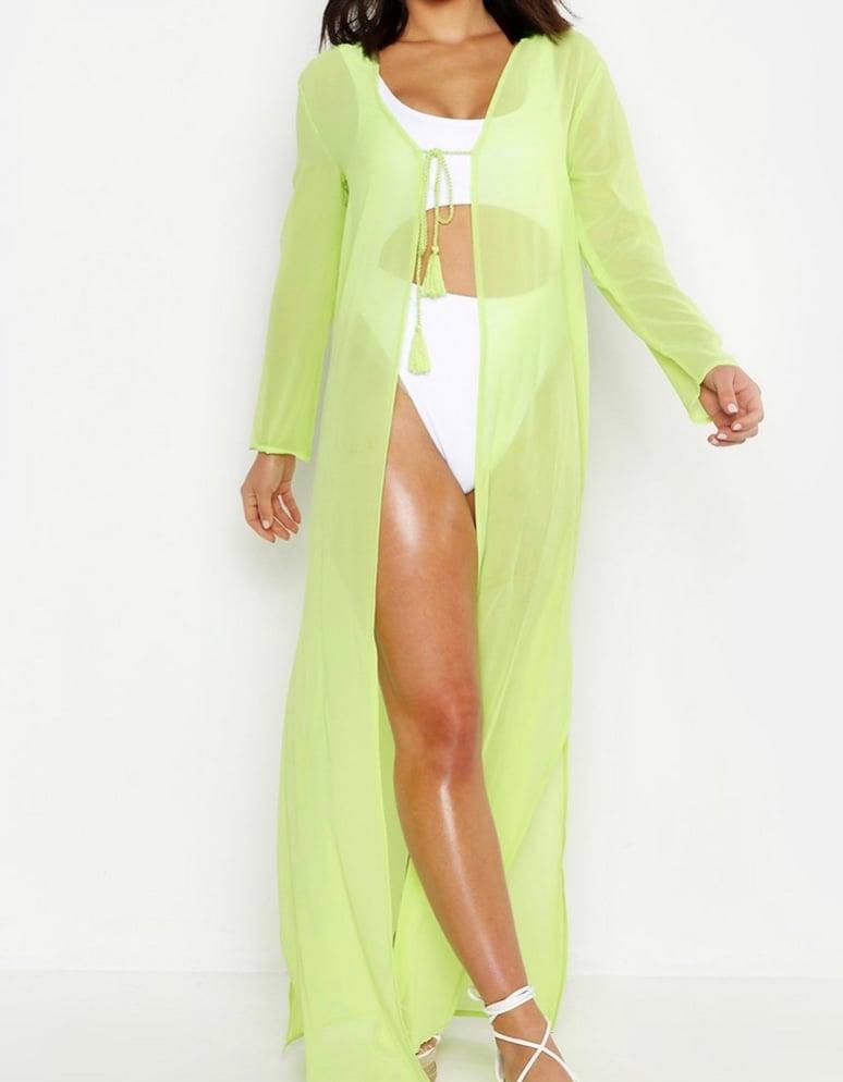 Image of Lime sheer kimono