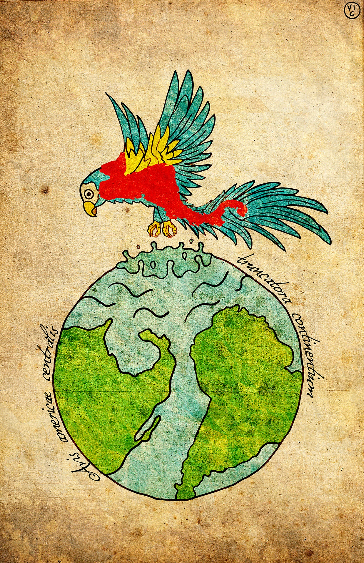 Image of Central American Bird -  Breaker of Continents POSTER