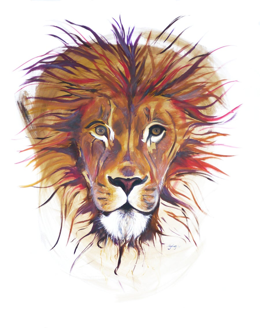 Image of Lion Print