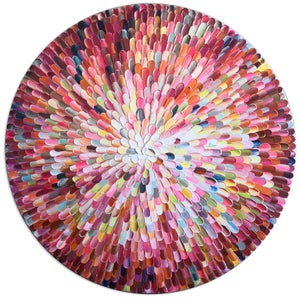 Image of Orbis bloom - 90x90cm - COMMISSION