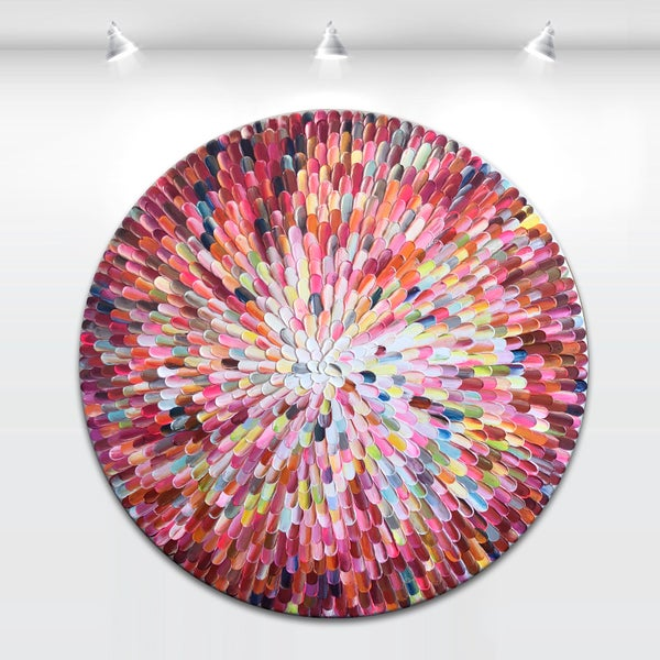 Image of Orbis bloom - 90x90cm