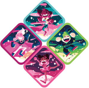 Image of 4 Stickers Set