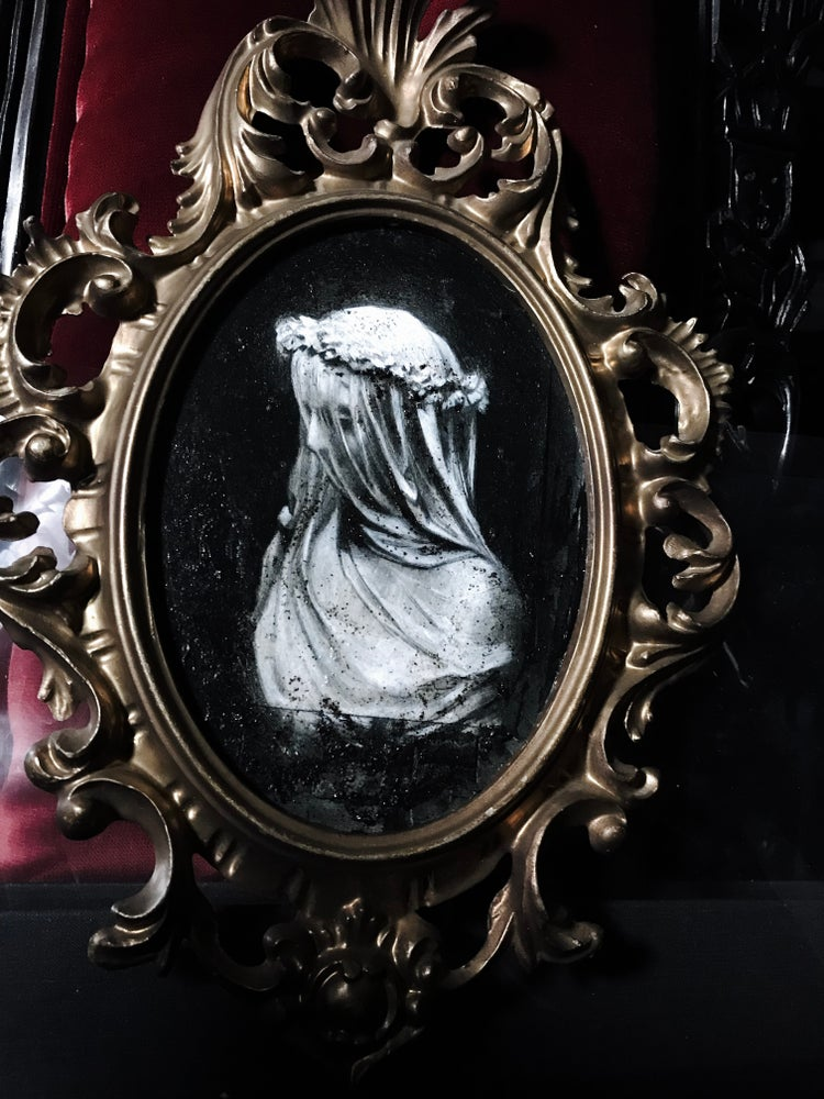 Image of 'WHITE WIDOW - In Honour of Notre Dame' - Hand Embellished Museum Archival Print