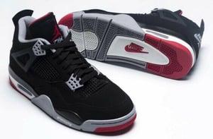 """Image of Nike Retro Air Jordan 4 """"Bred"""""""