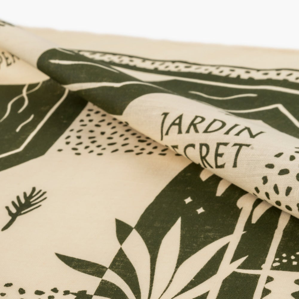 Image of Secret Garden hand printed bandana