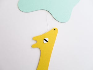 Image of Gerda giraffe, paper mobile