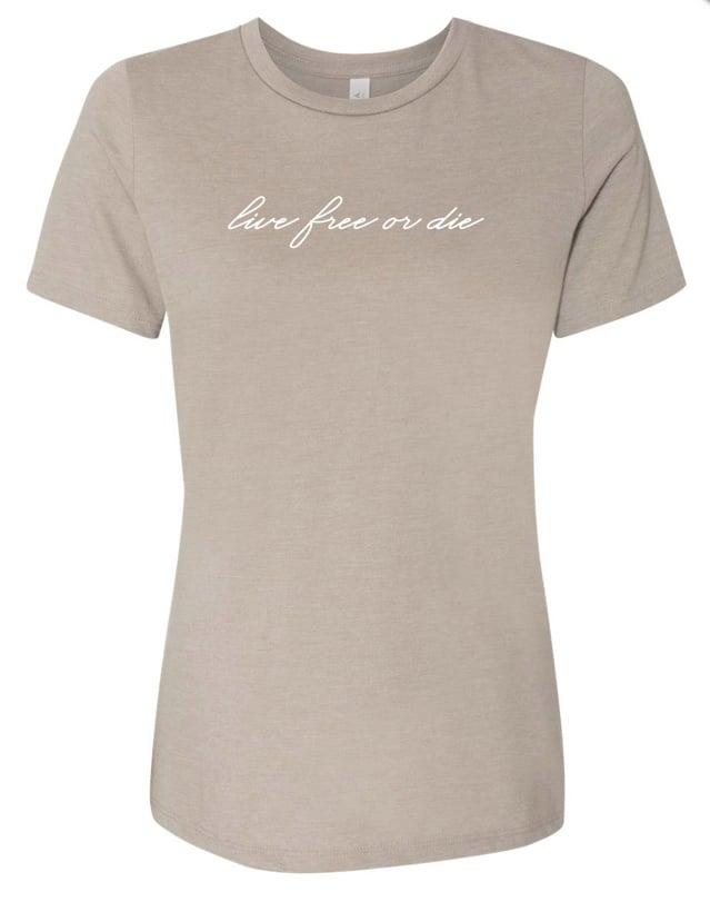 Image of Women's LFOD script t-shirt