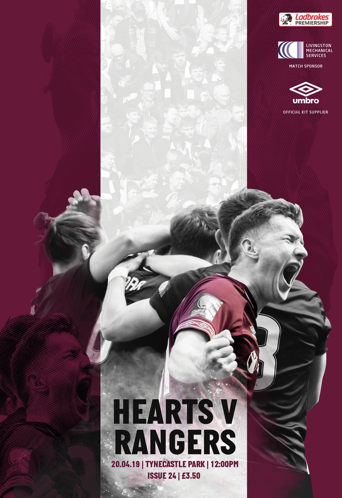 Image of Hearts v Rangers, 20th April 2019