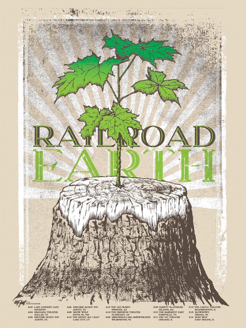 Railroad Earth Tour Poster, 2019