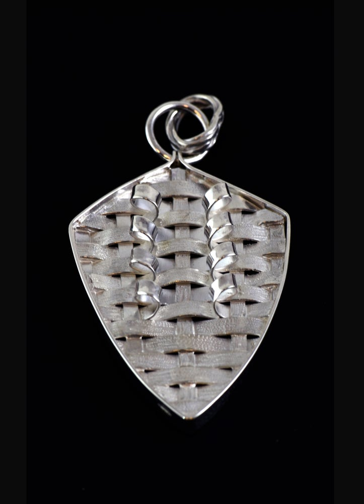 Image of Arrowhead Basket weave pendant