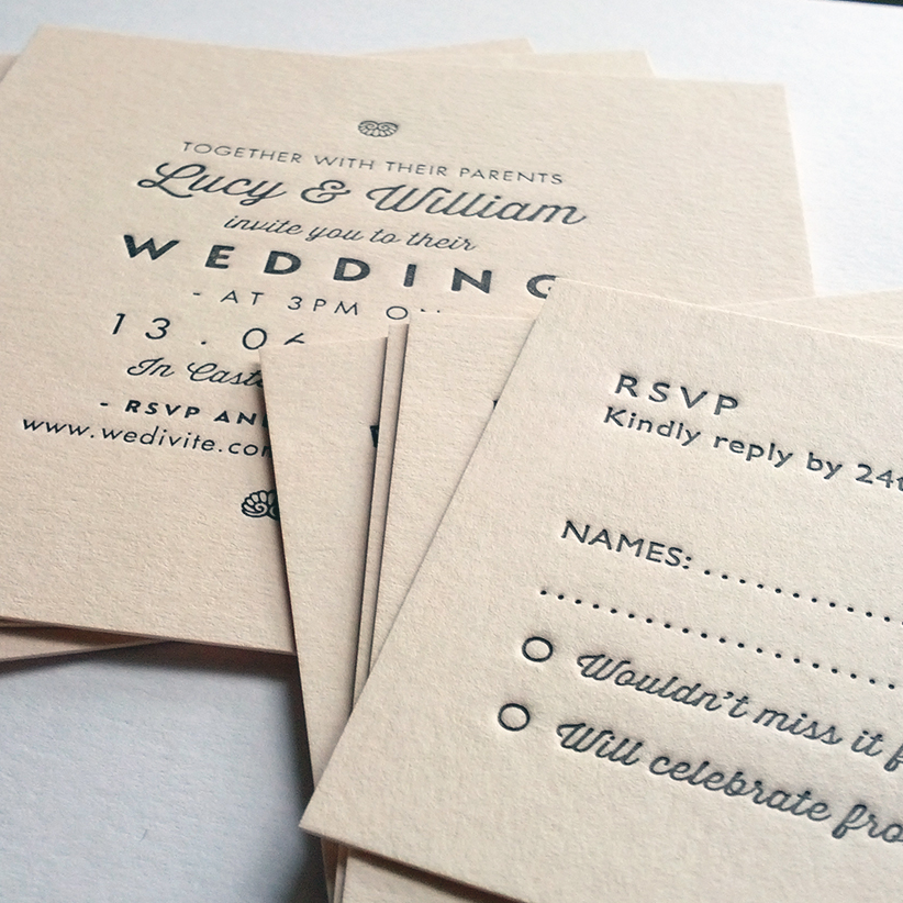 Wedding Invite Sample: Letterpress Business Cards And Wedding Invitations