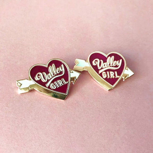 Image of Valley Girl Heart Pin (Seconds)