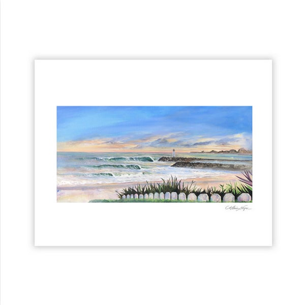 Image of Santa Cruz Harbor, Archival Paper Print
