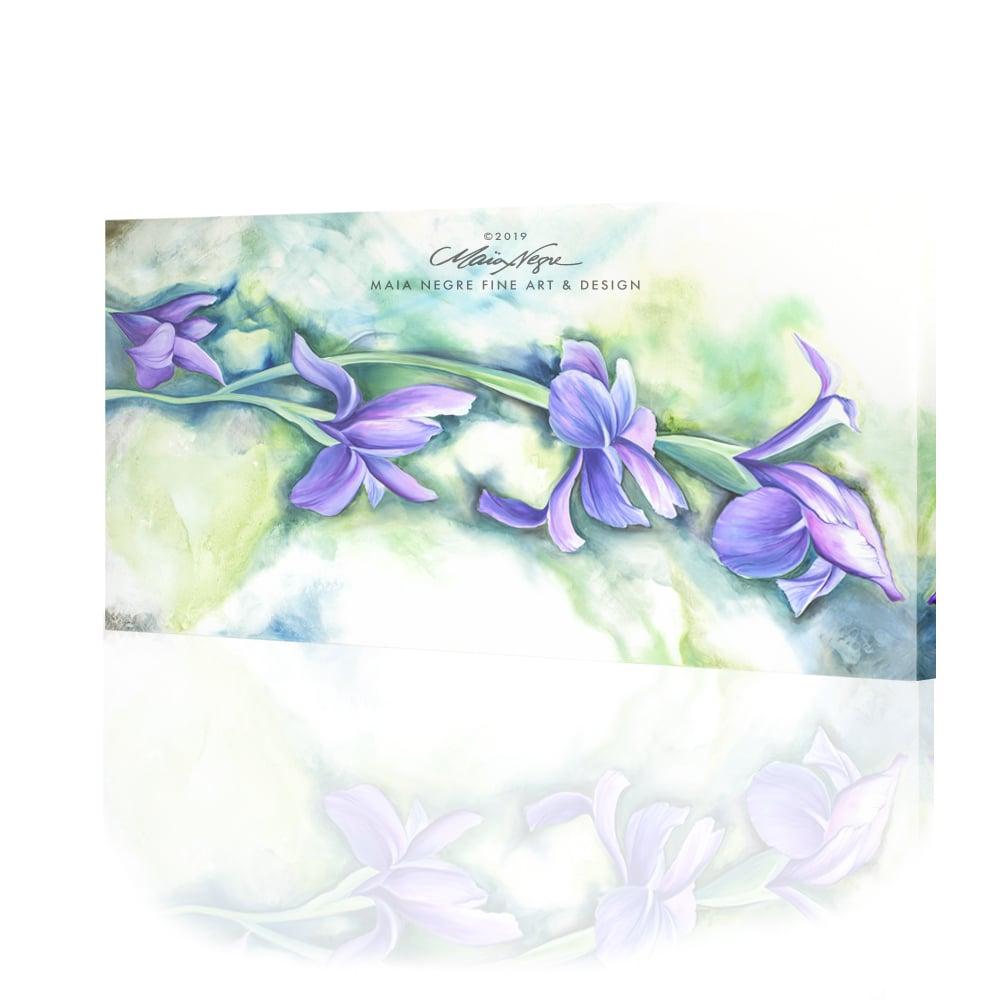 Image of Irises, Giclee on Canvas