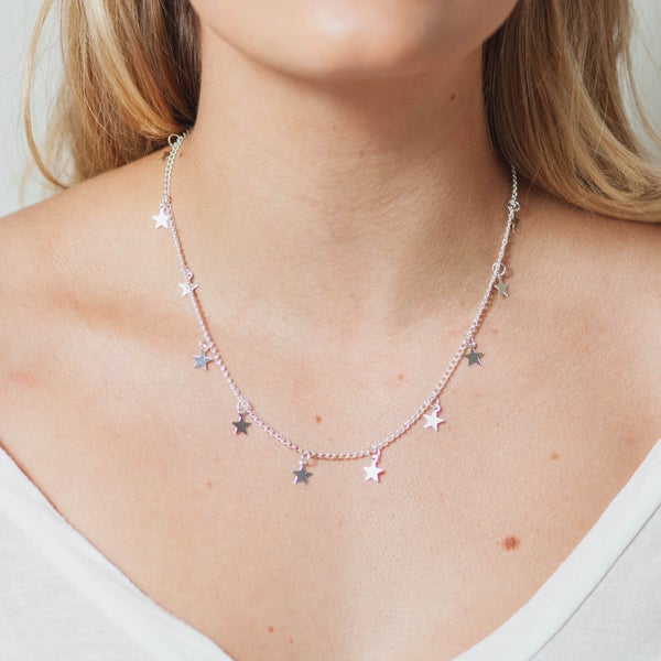 Image of STAR DROP NECKLACE