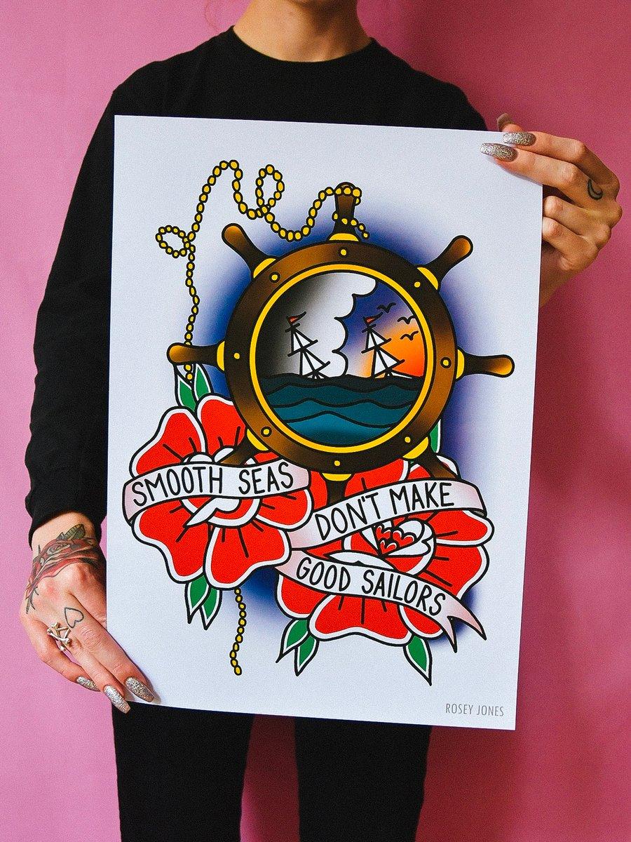 Image of Print Smooth Seas