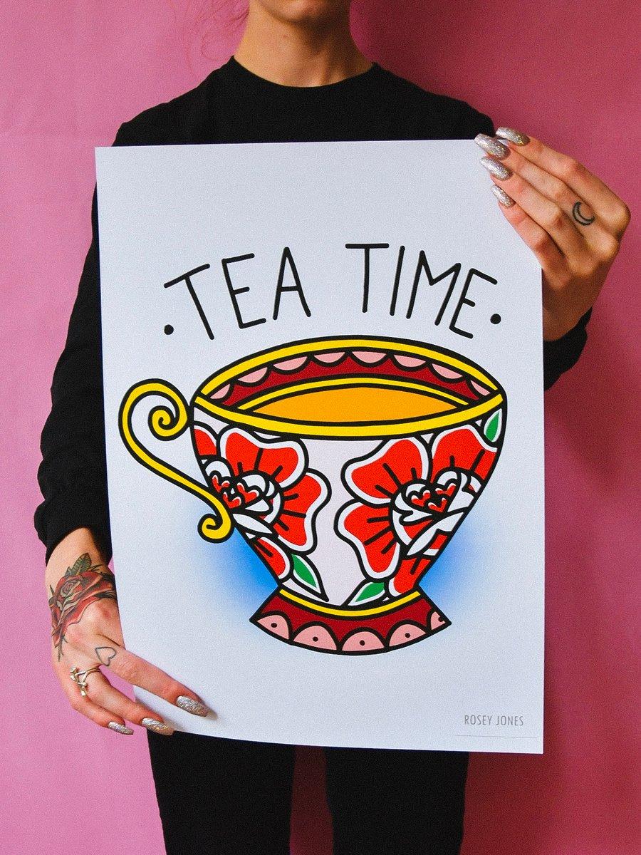 Image of Print Tea Time